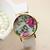 HOT Vogue Women'S Girl'S Geneva Leather Rose Flower Watch Quartz Watches B7BU   eBay
