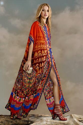 dress lace up kaftan parides long maxi dress resort wear bikiniluxe