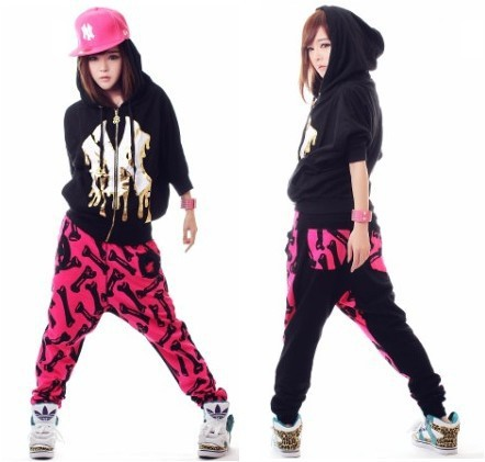 Street Dance Wear/ Harem Pants Women, Printed Stage Performance /hip Hop Pants/sports Sweatpants For Girls[Acro]-in Pants & Capris from Apparel & Accessories on Aliexpress.com