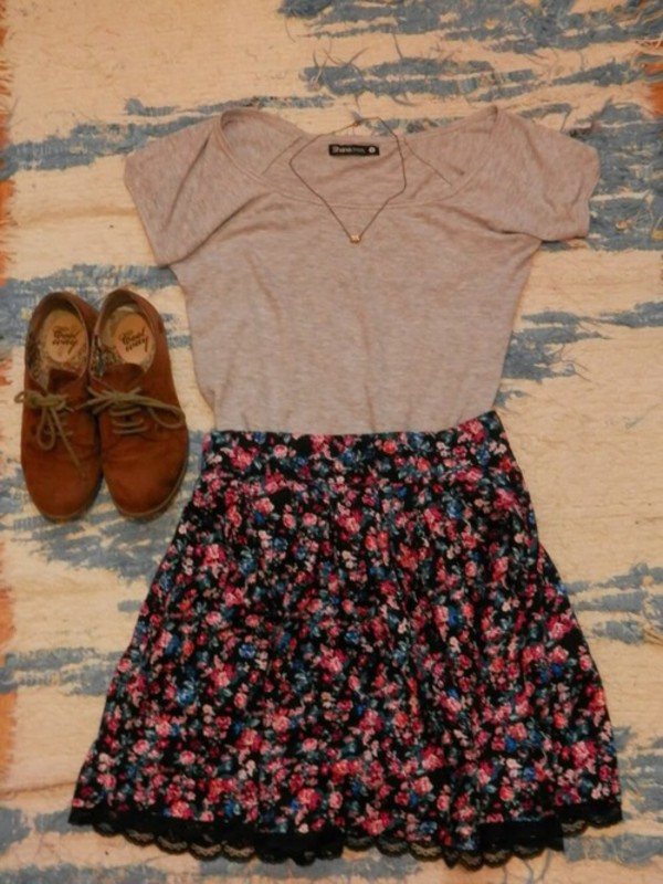 skirt shirt cute date outfit shoes
