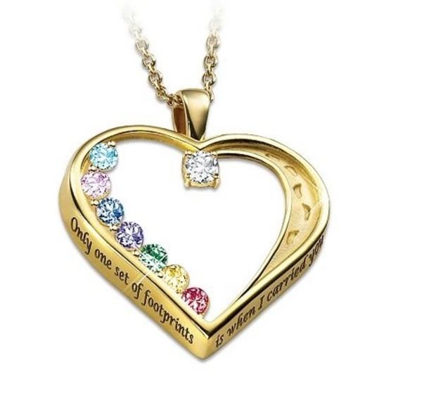 jewels necklace heart swarovski