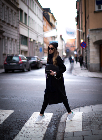 kenza coat shoes jeans bag jewels scarf sweater adidas stan smith zara bag sunglasses white green superstar