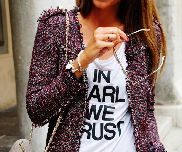jacket colorful t-shirt tweed jacket vest bordeau girl