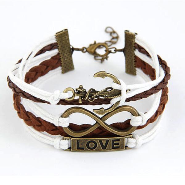 jewels bracelets love boat mixed color