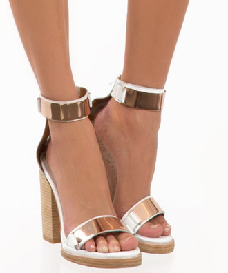 shoes gold heels white heels high heels heels high white gold gold cuffs gold plates formal shoes wood wooden heel wooden heels prom heels gold sandals ankle cuff ankle cuffs