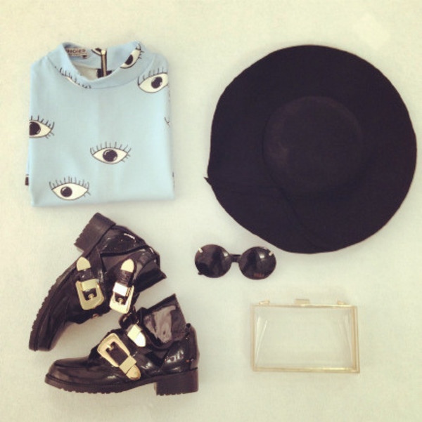 dress cute dress 645687 clours lovely dress eyes outfit blue top clothes fashion shoes boots bag hat sunglasses