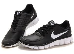 Black Friday Sales USA Women's Nike Free 5.0 Running Shoes Leather Black White