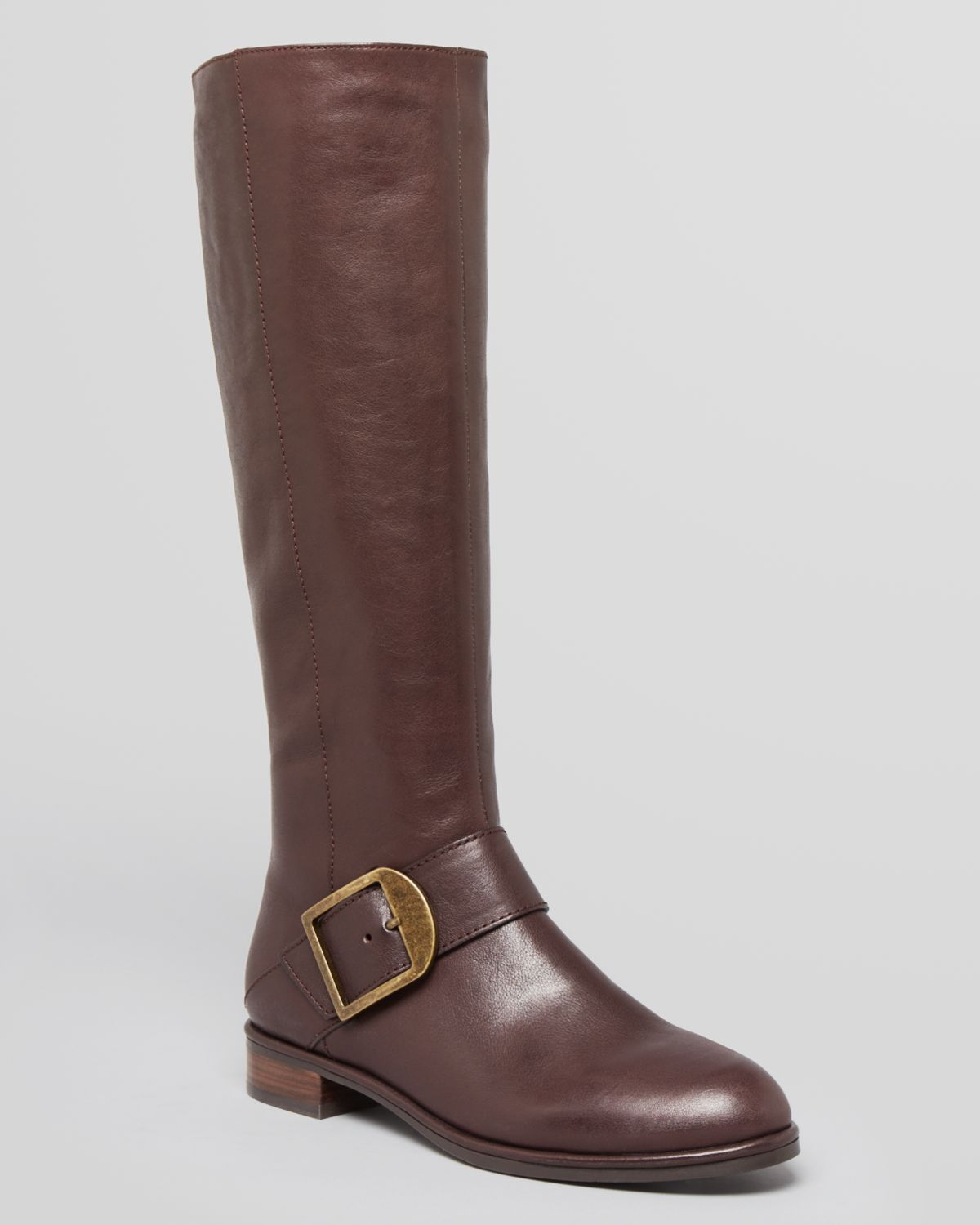Via Spiga Tall Boots - Idola Buckle Flat | Bloomingdale's