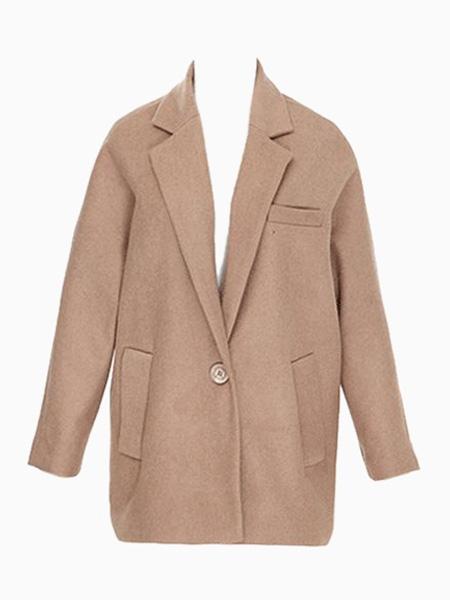 Oversize Ovoid Coat in Brown | Choies