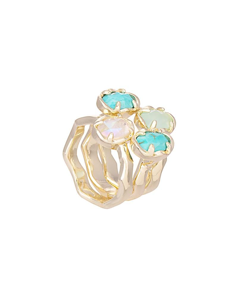 Brady Stackable Rings in Blue Marine - Kendra Scott Jewelry