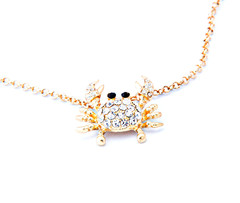 Shari Couture Crab Gold Necklace – Shari Couture