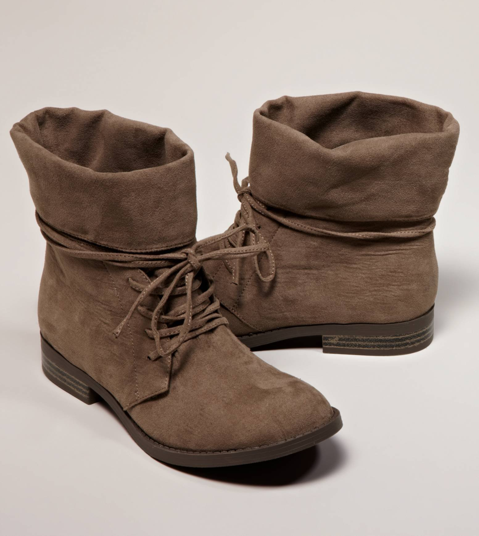AEO Foldover Suede Bootie   American Eagle Outfitters on Wanelo