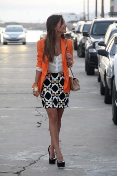 skirt patterned skirt