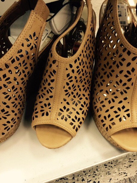 shoes brown wedges