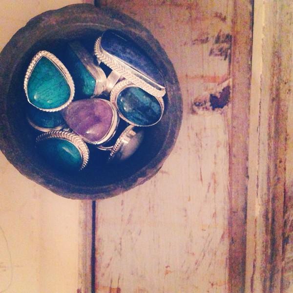 jewels semi precious stones turquoise gemstone ring