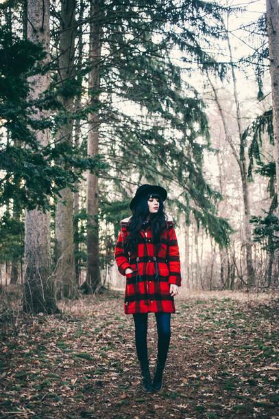 jag lever blogger hat hipster flannel winter coat