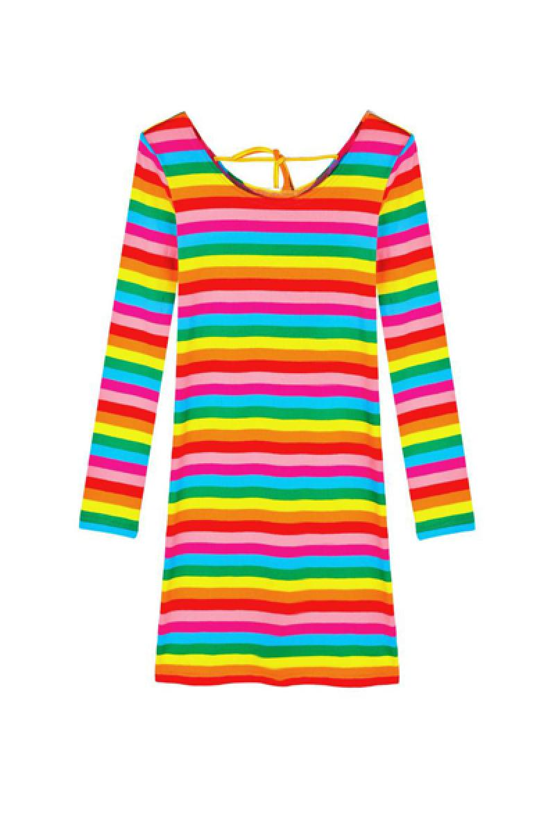 Colorful Stripes Fashion Dress,Cheap in Wendybox.com