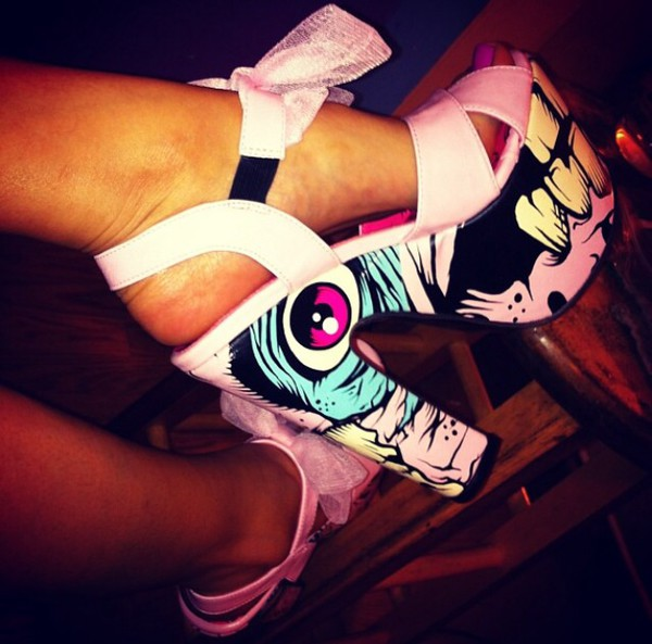 shoes heels pink bow shoes pink