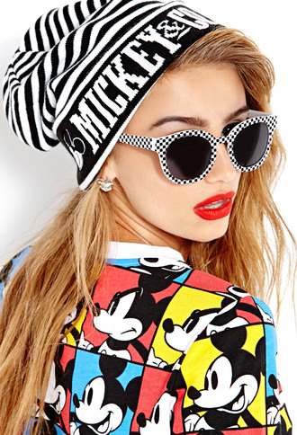 hat forever 21 beanie mickey mouse