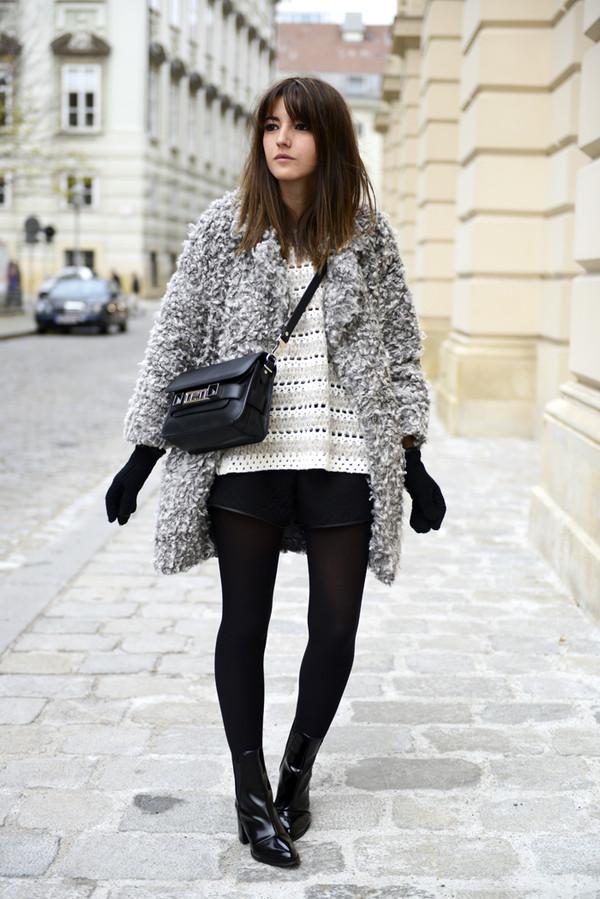 lovely pepa coat sweater shorts shoes bag