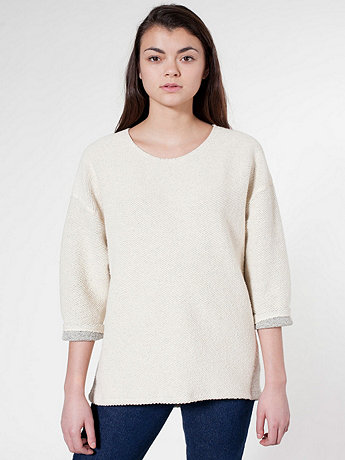 Unisex Reversible Easy Sweater | American Apparel