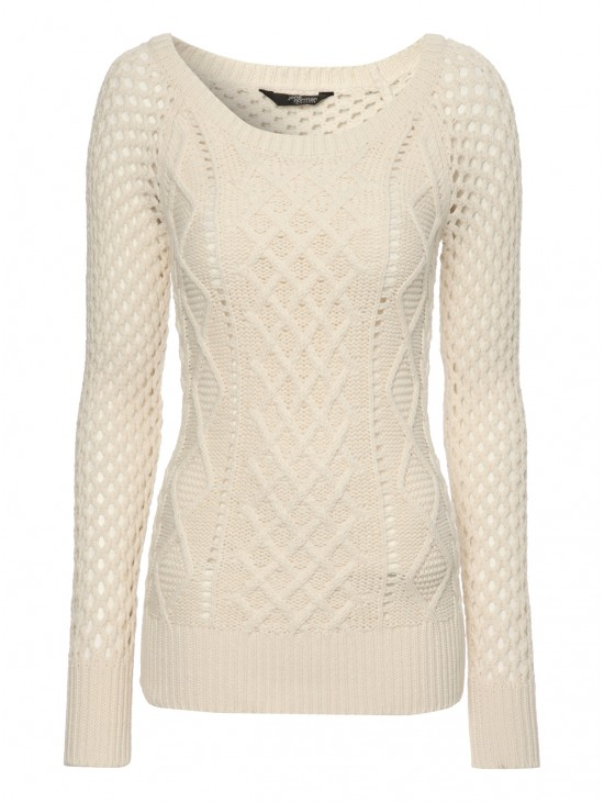 Mesh Cable Knit Jumper  | Jane Norman