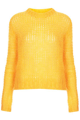 Knitted Mohair Grunge Jumper - New In This Week  - New In  - Topshop