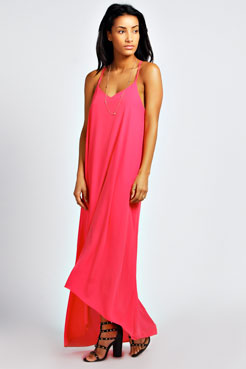Ellis Strappy Dip Back Maxi Dress at boohoo.com