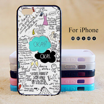 OKAY,OKAY,The Fault In Our Stars,iPhone 5 case,iPhone 5C Case,iPhone 5S Case, Phone case,iPhone 4 Case, iPhone 4S Case,Case on Wanelo