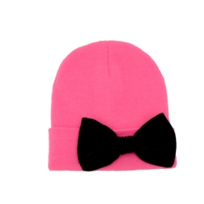 MARIALIA - Hot Pink Beanie with Bow