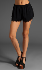 The Reformation Fly Lace Short in Black   REVOLVE