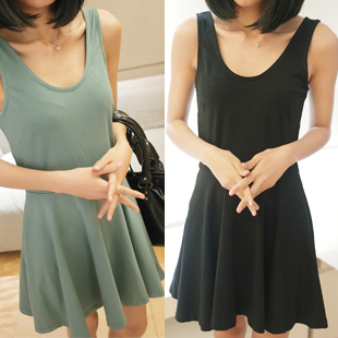 2013 spring and summer slim basic tank dress expansion black skirt dresses women casual-inDresses from Apparel & Accessories on Aliexpress.com