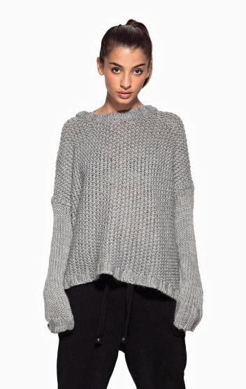Edge Sweater Grey Melange