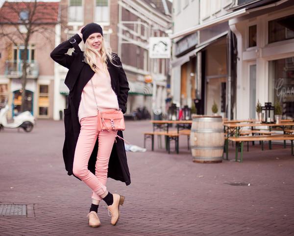 cocorosa coat sweater jeans bag
