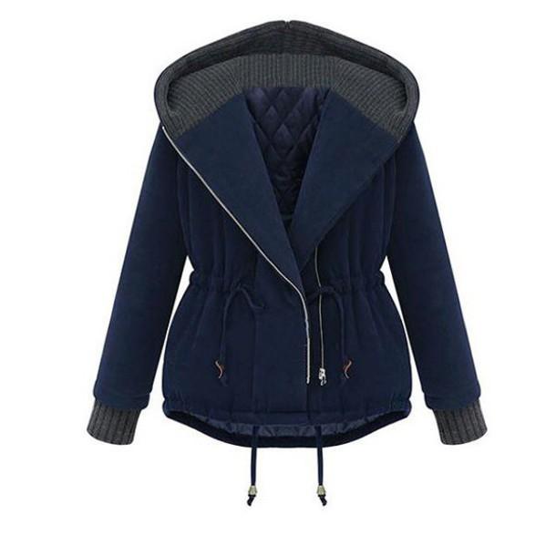 blouse style fashion blue coat