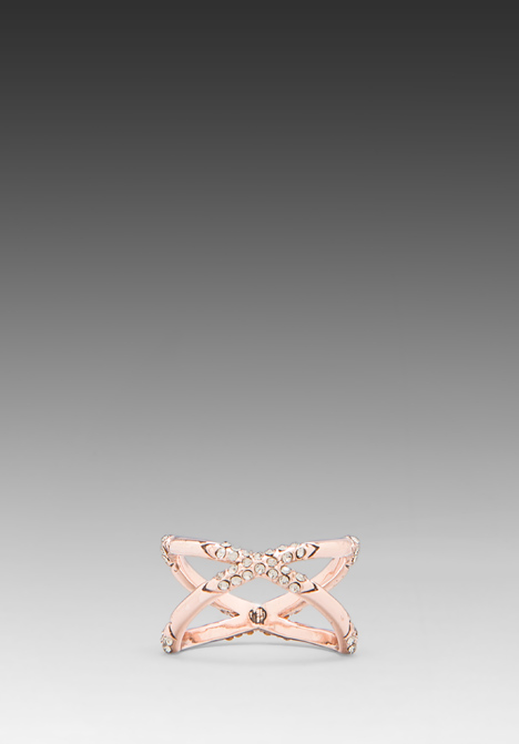 HOUSE OF HARLOW Sound Waves Ring in Rose Gold at Revolve Clothing - Free Shipping!