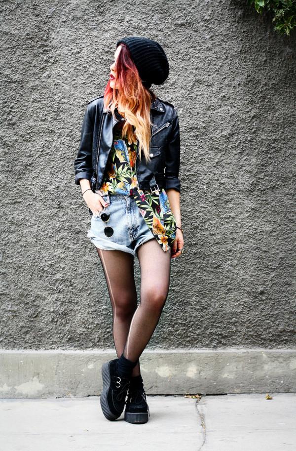 le happy shirt shorts jacket sunglasses shoes