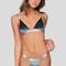 Marlo bikini top in teal