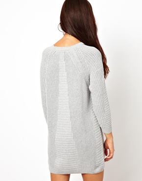River Island | River Island Jumper Dress With Zip Detail at ASOS