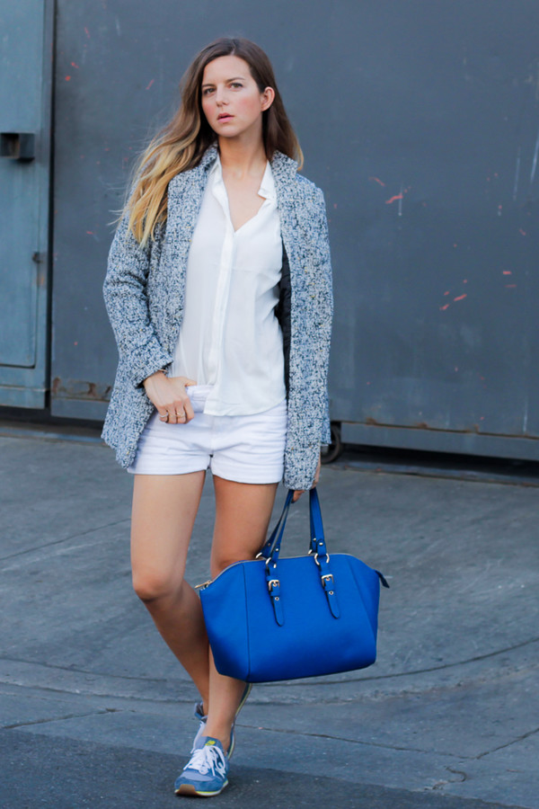 take aim jacket blouse bag shoes jewels shorts