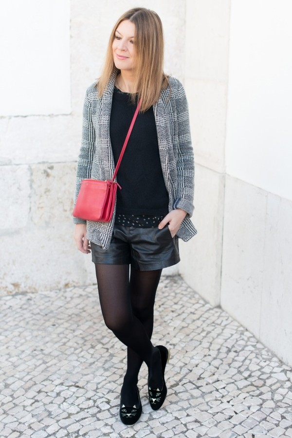 the working girl shorts bag jewels blouse sweater
