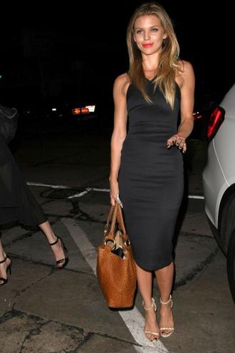 dress bodycon midi dress black dress annalynne mccord