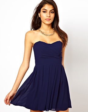 TFNC | TFNC Prom Dress in Pleated Chiffon at ASOS