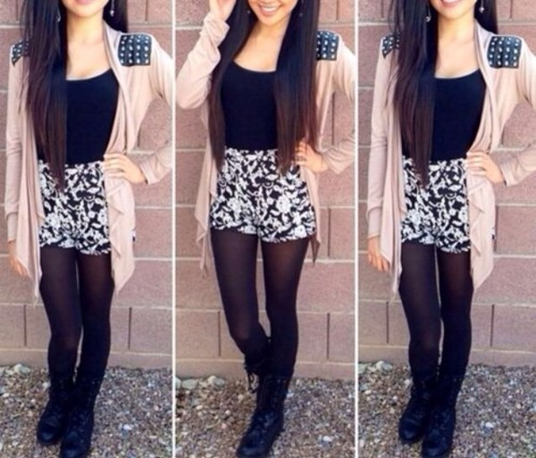 shorts jacket blouse shoes sweater