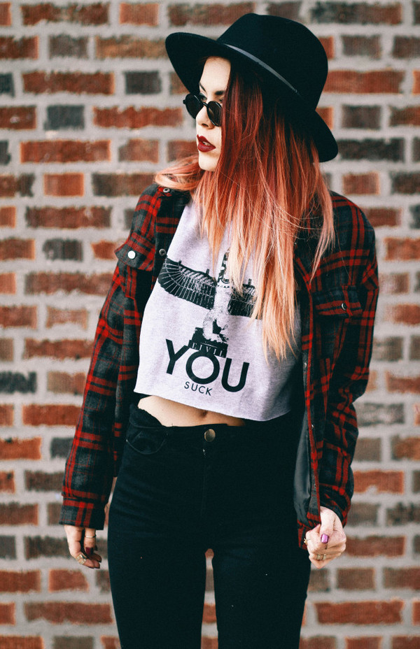 plaid red jeans hat boy london crop tops hipster indie black luanna perez alternative ombre hair blogger boho jacket top cute style fashion shirt pattern grunge street rayban sunglasses vintage perfect sheinside
