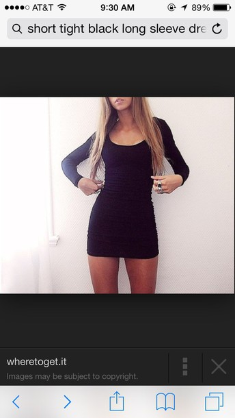 dress tight (body fitting) short (about that length) both long sleeve