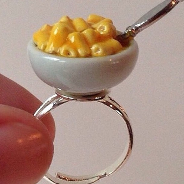 cool cool girl style ring food jewels