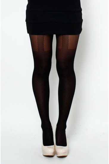 LoveMelrose.com From Harry & Molly | Suspended Tights simulate a garter belt and stockings - LEG WEAR - ACCESSORY