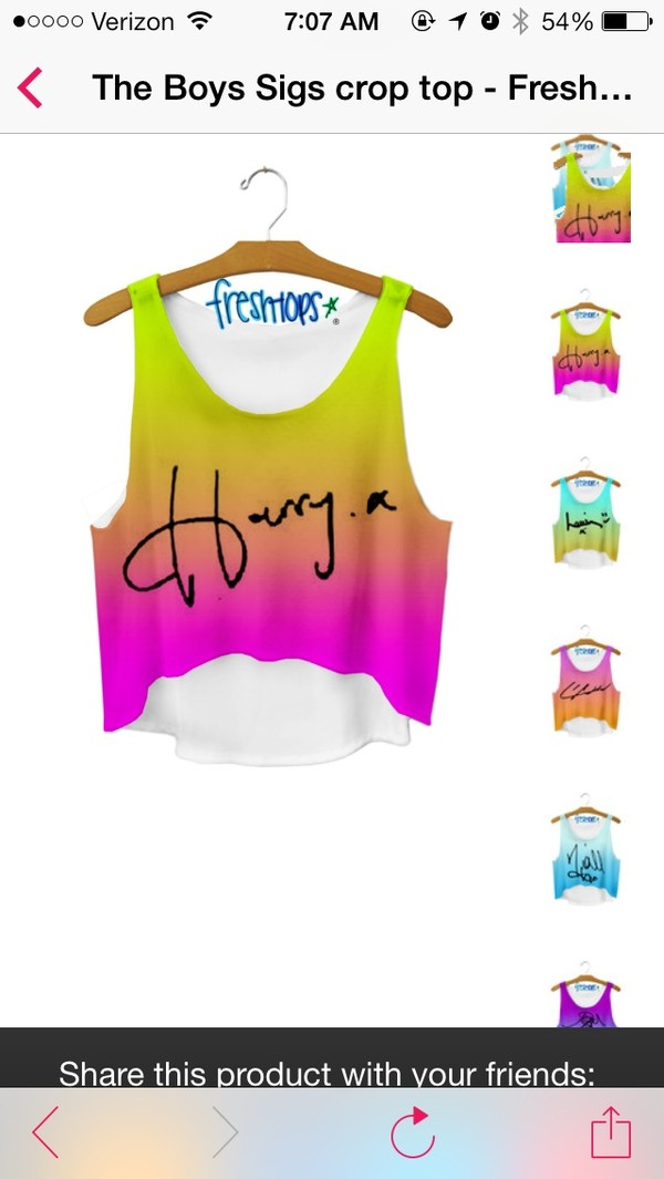 top harry styles one direction tie dye shirt