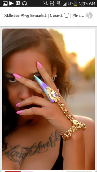 jewels ring chain cute hand jewelry latest multicolor colorful patterns